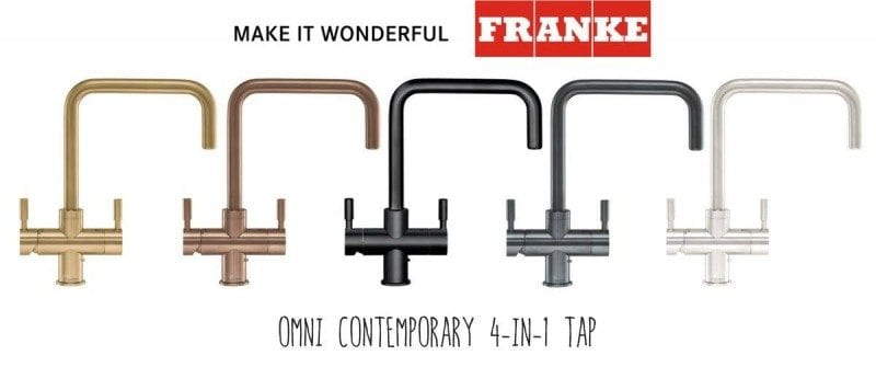 Franke 4in1 boiling water tap at our showroom