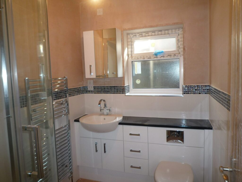 En Suite Bathroom Recently Completed In Bolton