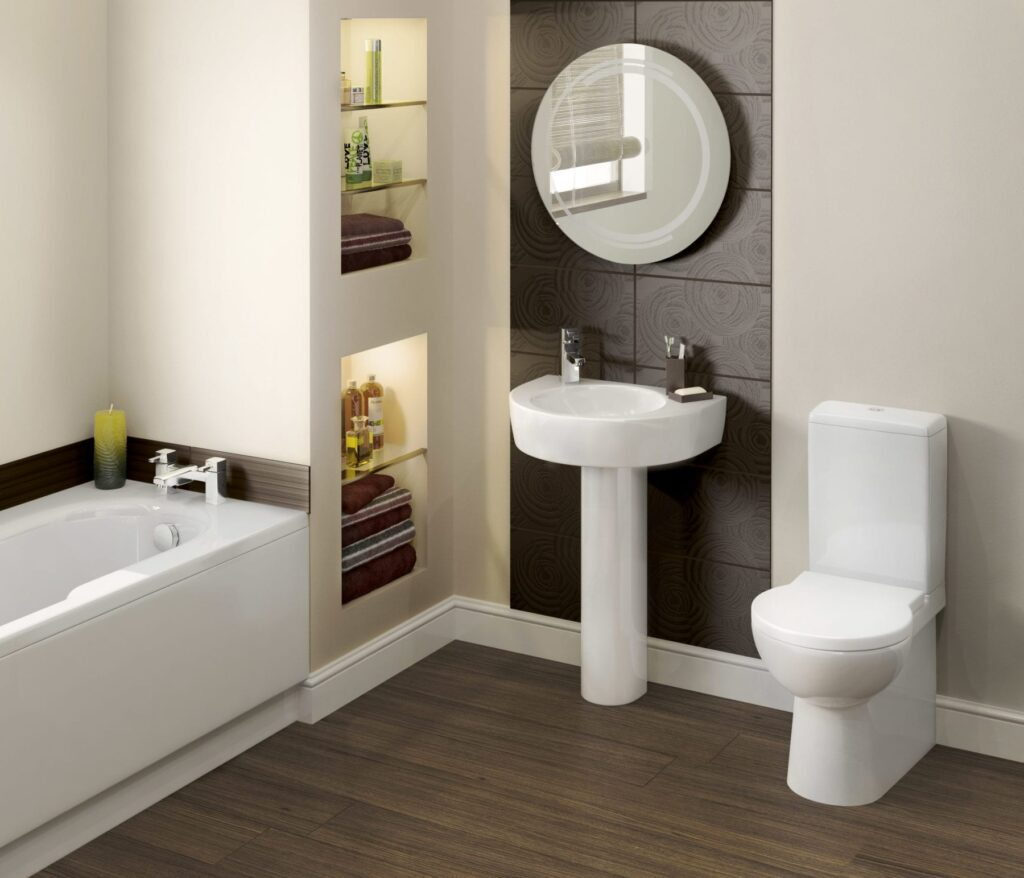 Another space saving bathroom suite….
