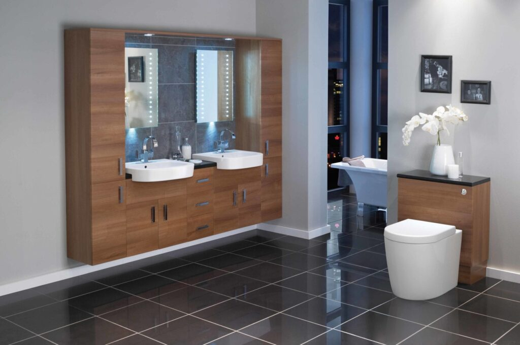 Linear luxury fitted furniture for bathrooms