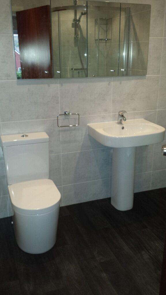 Mrs Spencer, bathroom on Ladybridge