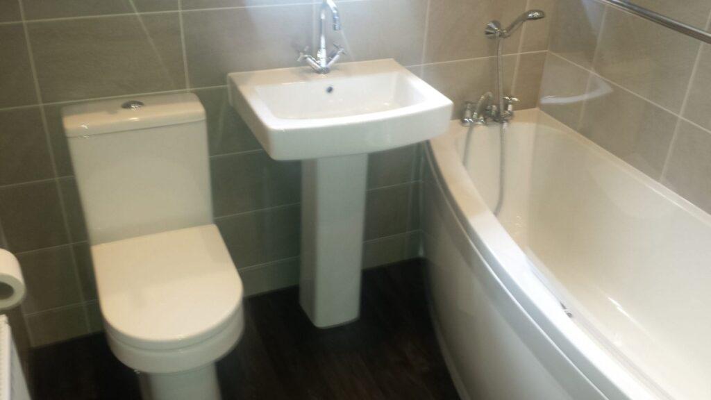 Mr & Mrs England, bathroom in Horwich