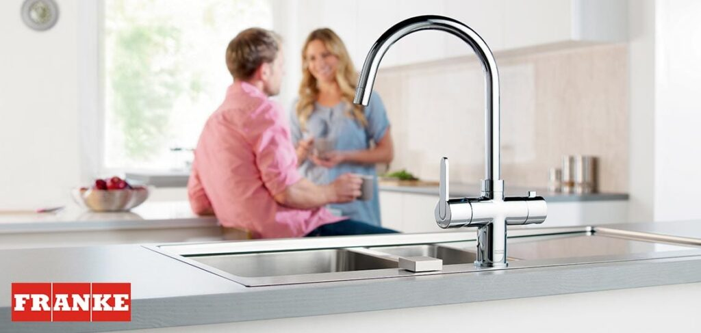 Franke Minerva Boiling water tap at Oldfield showroom