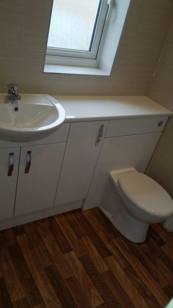 Mr & Mrs Smith, Jack & Jill bathroom in Westhoughton