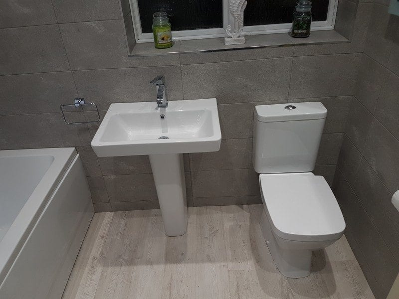 Mr & Mrs Pickering, main bathroom in Horwich