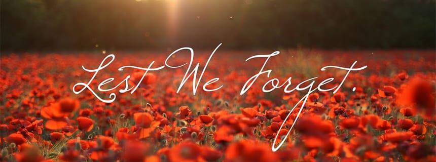 Lest we forget…..